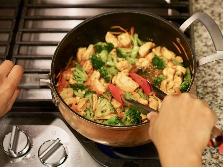 Chicken Ramen Noodle Skillet