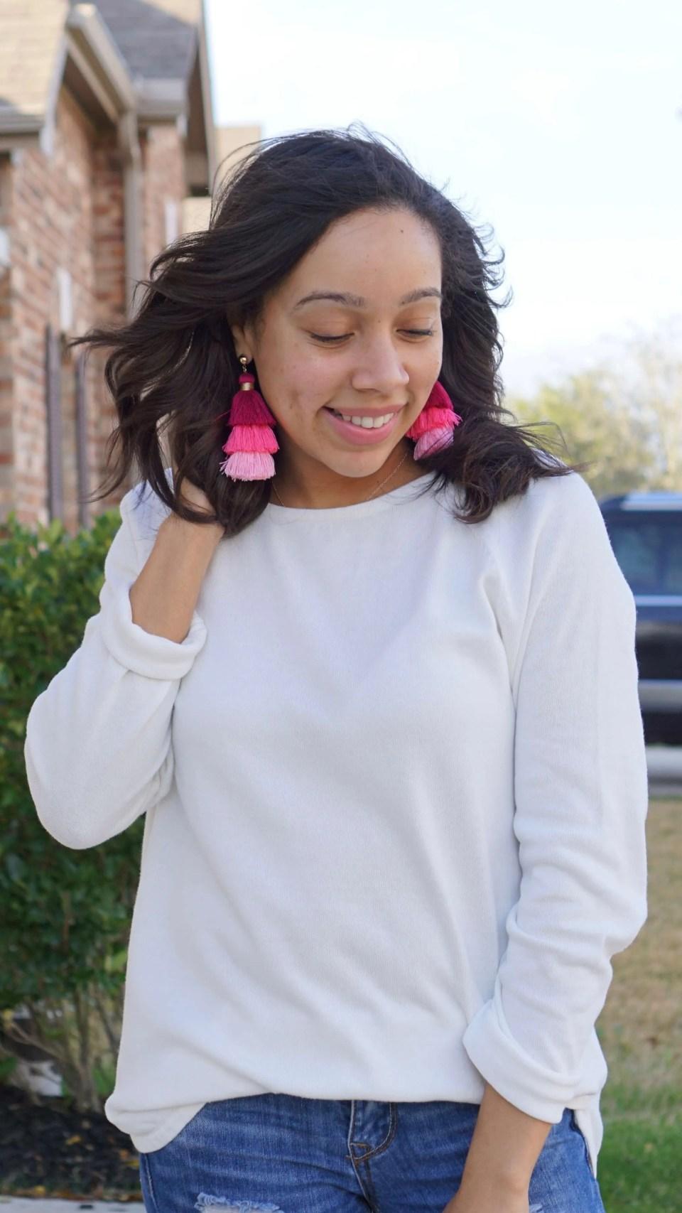 Pops of Color; Tiered Tassel Earrings