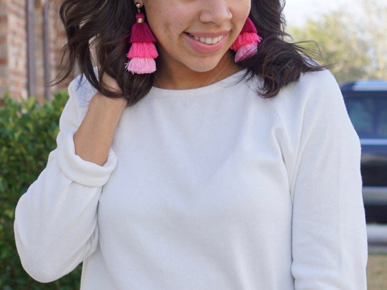 Pops of Color; Tiered Tassel Earrings