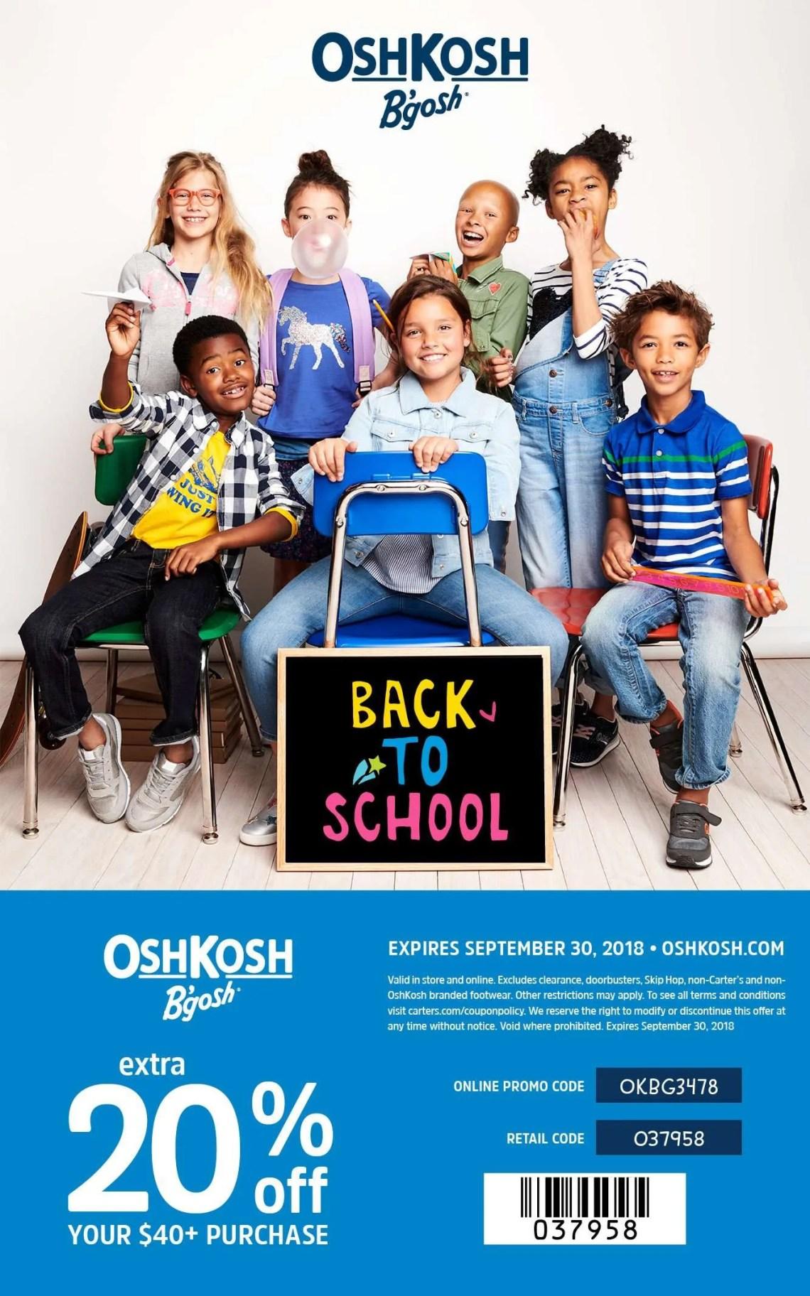 OshKosh B'gosh, Back to School, shopping tips, kids fashion, OshKosh, kids style