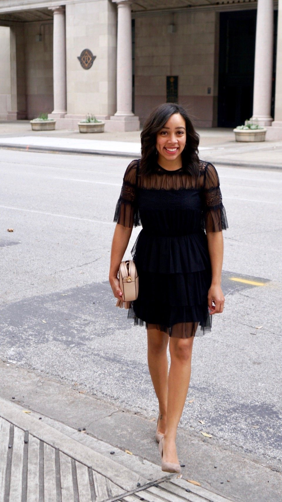Trendy Thursday LinkUP + Ruffle Little Black Dress