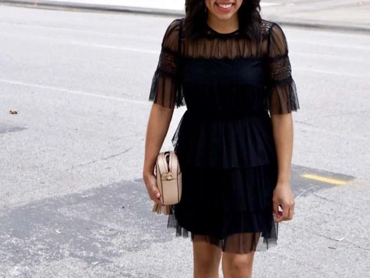 Trendy Thursday LinkUP + Ruffle Little Black Dress