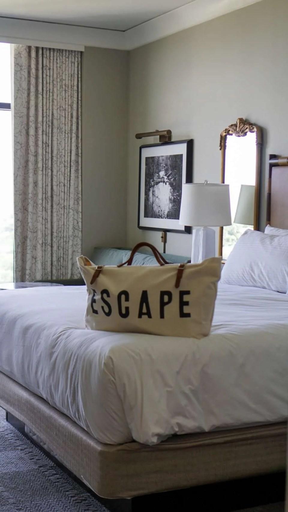 Beds at the Omni Barton Creek Resort & Spa in Austin