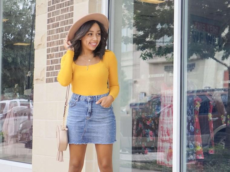 Trendy Thursday LinkUp + How to Style a Denim Skirt
