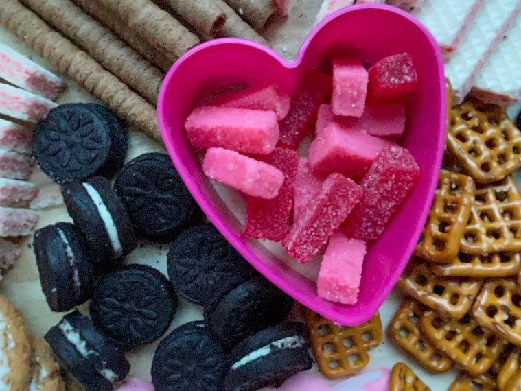 Valentine's Day Treats Tray to Celebrate at Home