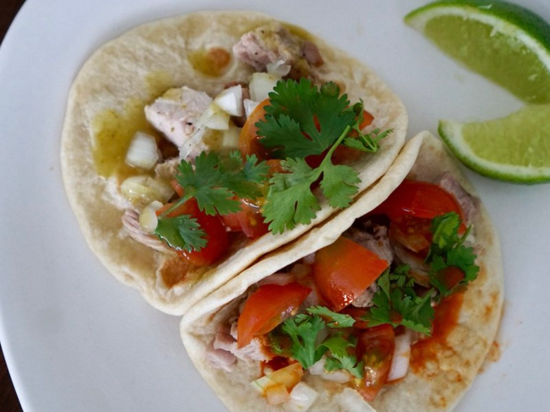 Pork Street Tacos with De La Viuda Hot Sauces