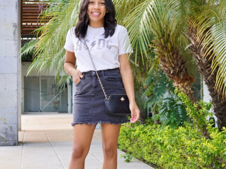 How to Style a Jean Skirts this Spring