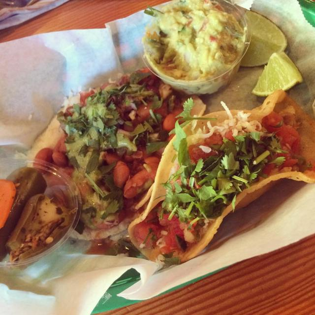Veggie amp Chicken taco goodness Yup Ill be back! tacubayataqueria