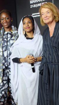 Hafsat Abiola, Alaa Salah and Aude de Thuin (c) JC Agid