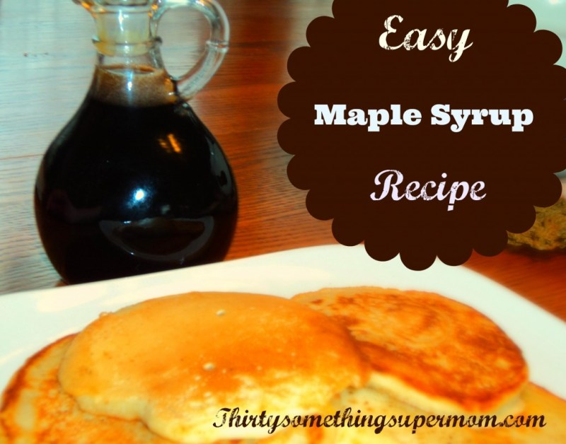 Easy Maple Syrup Recipe