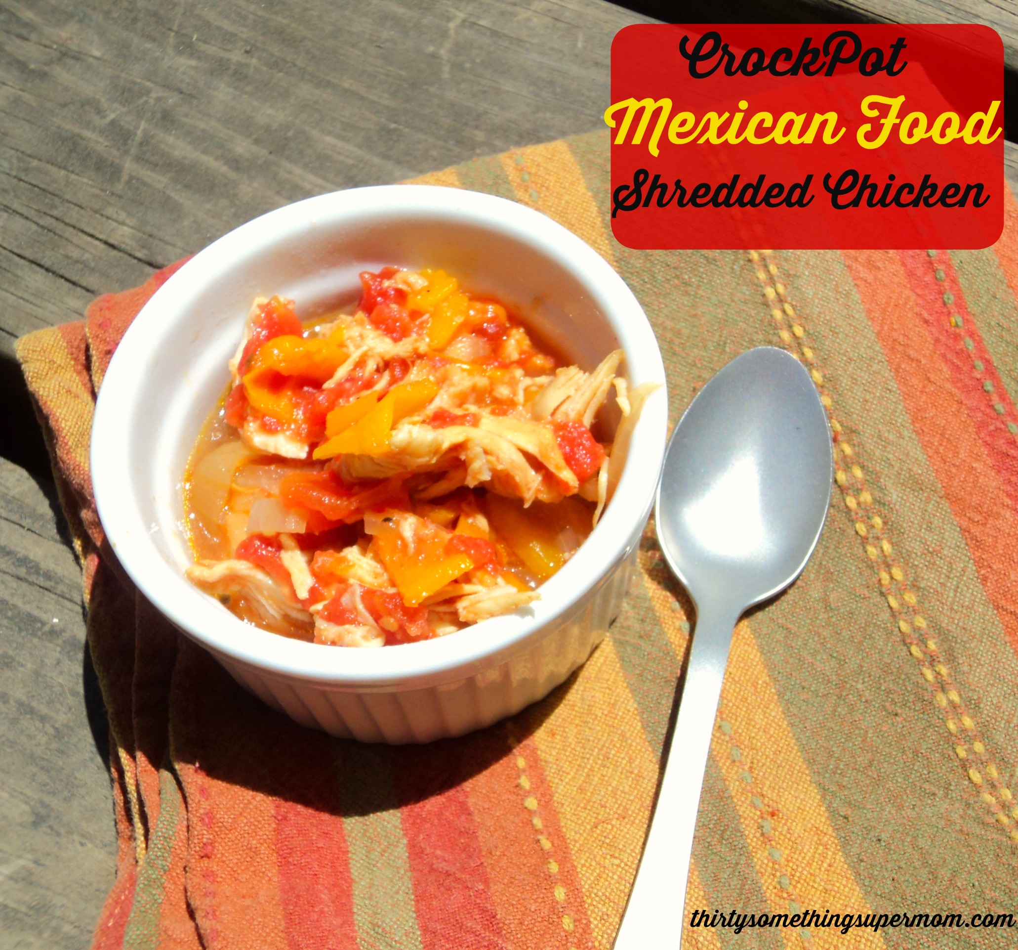 CrockPot Mexican Food :Shredded Chicken