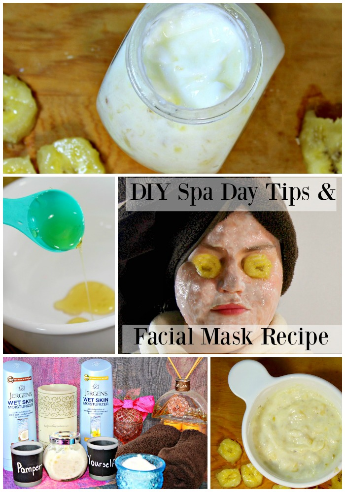 Fun and Easy way to enjoy a relaxing spa day with these DIY Spa Day Tips & Facial Mask Recipe