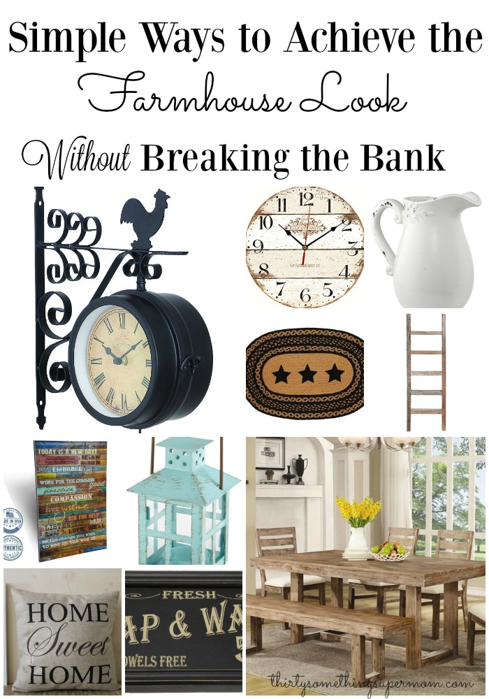 Farmhouse Design picks that I can actually afford to add to my home!