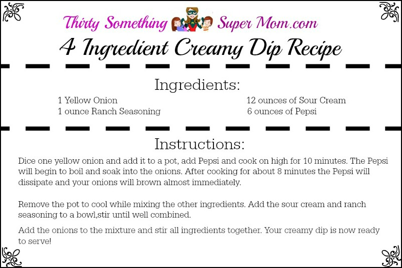 4 Ingredient Creamy Dip Recipe