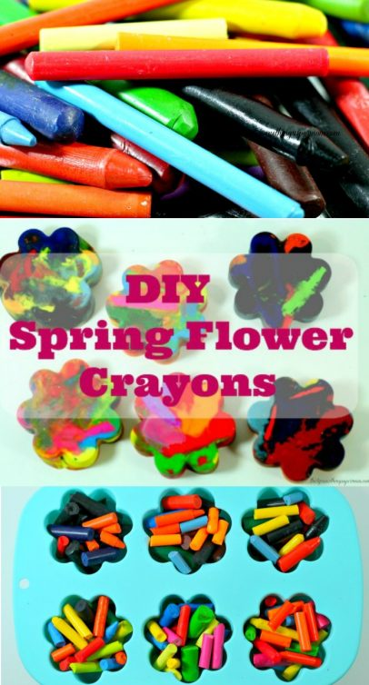 DIY Flower Crayon Craft & Printable