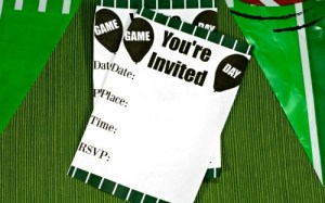 Game Day Party & Printable Football Themed Invitations