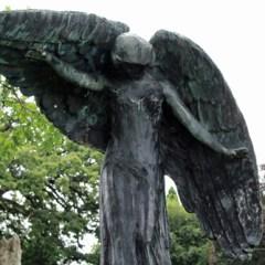 Visiting The Black Angel of Death in Iowa City,Iowa