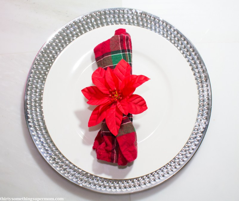 DIY Poinsettia Napkin Rings Christmas Craft