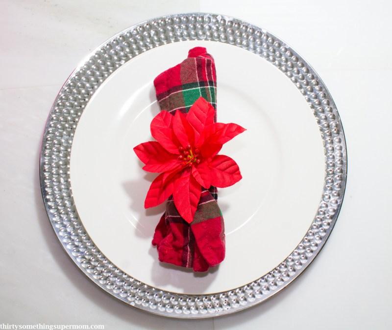 DIY Poinsettia Napkin Rings Christmas Craft