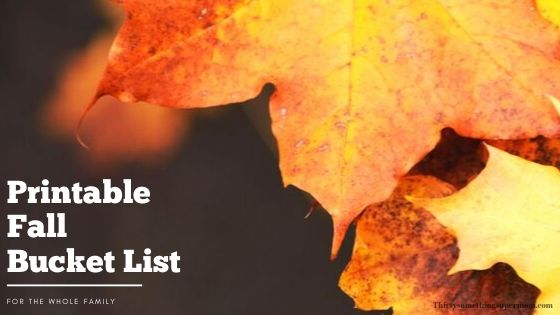Fall Bucket List for the Whole Family