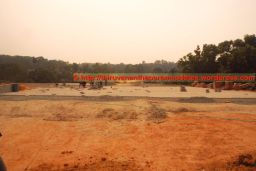 Final landscaping of the welcoming Plaza area started (27-Dec-2014)