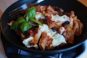 Baked Pasta Alla Norma with Sweet Italian Turkey Sausage
