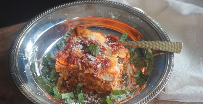 This African Cooks cheesy lasagna