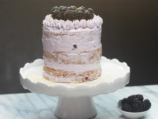 Browned Butter Blackberry Sage Layered Cake