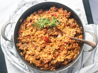 Whole 30/Paleo Ghanaian Cauliflower Jollof Rice