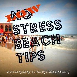 low stress family beach trip