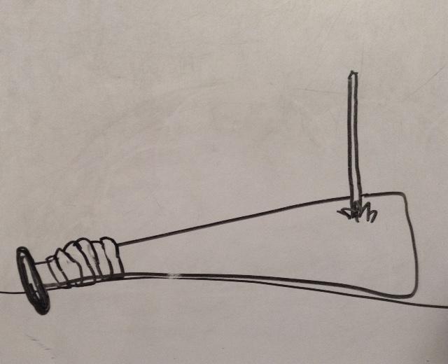 baseball bat with nail