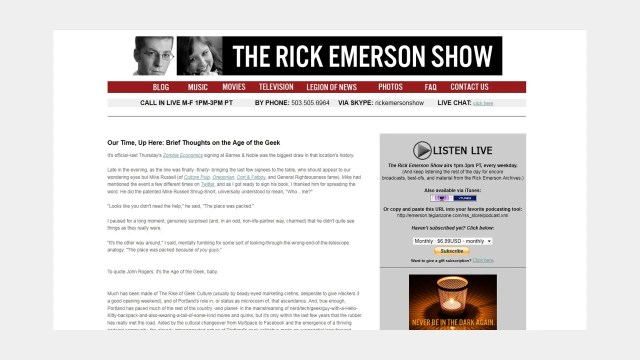 The Rick Emerson Show Interview