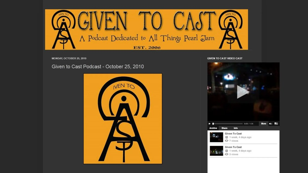 Given to Cast podcast