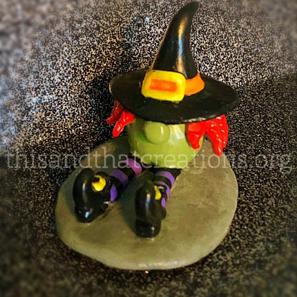 Gnome Witch Figurine $10