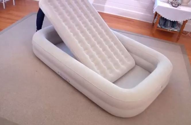 Kids Travel Cot Bed Inflatable Baby Child Toddler Air Beds Intex Mattress Kidz Ebay