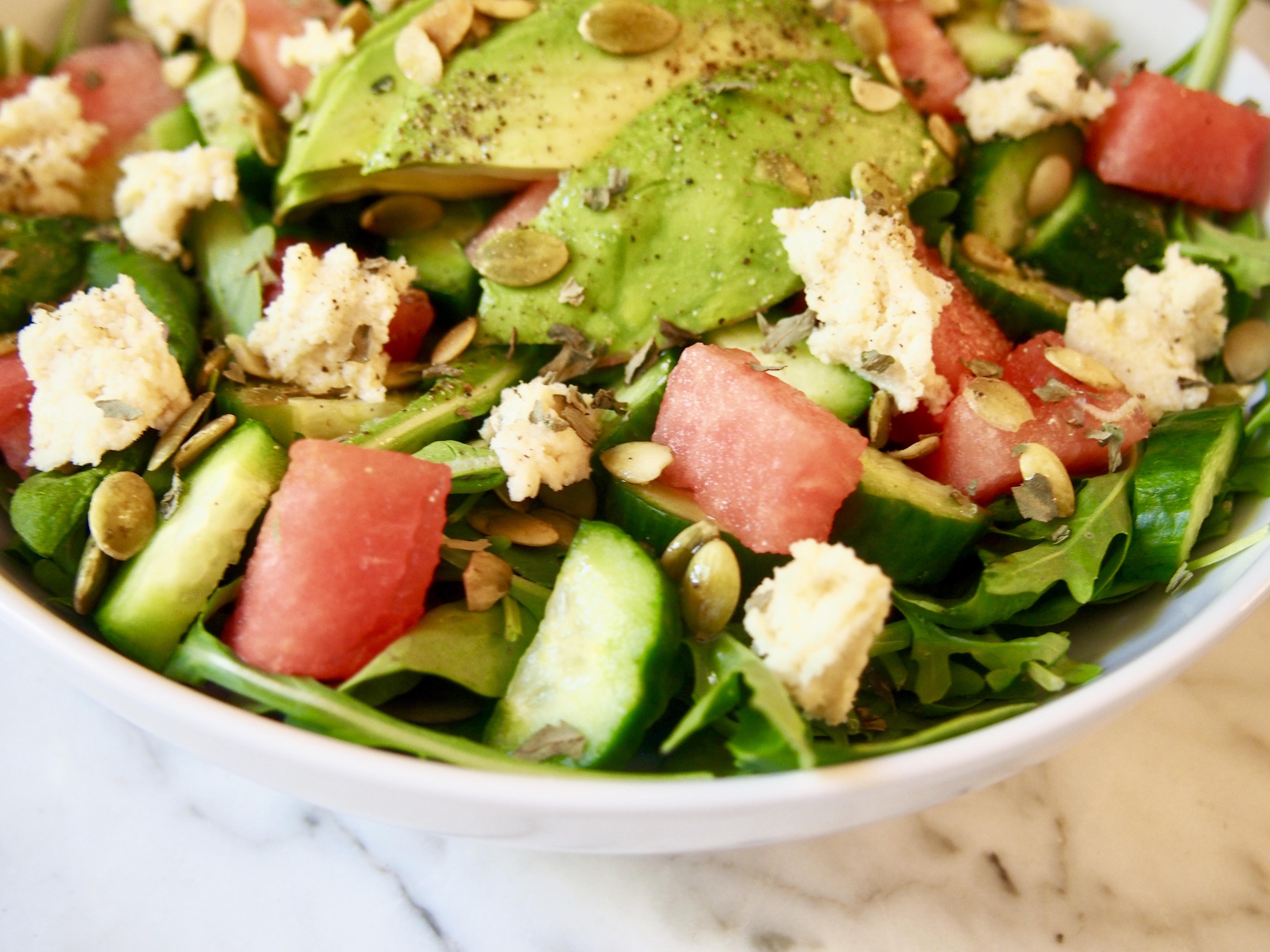 Why You Should Eat More Watermelon + Vegan Watermelon Feta Salad Recipe