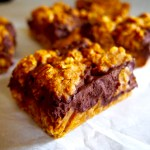 pumpkin oatmeal chocolate bar