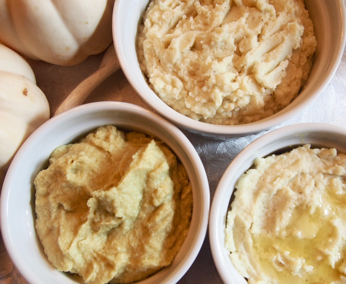 cauliflower mash vegan keto dairy-free paleo