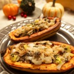 vegan paleo stuffed delicata squash vegan thanksgiving