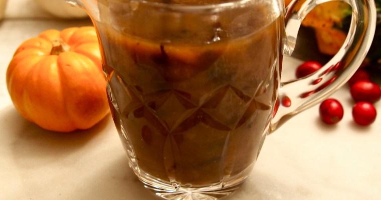 Paleo Mushroom Gravy: Vegan, Dairy-Free, Gluten-Free Recipe