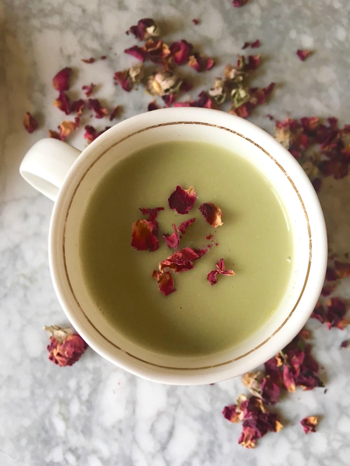 matcha tea latte self-love