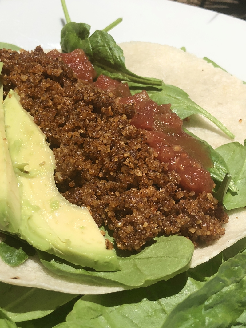 vegan taco walnut meat