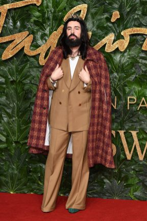 LONDON, ENGLAND - DECEMBER 10: Alessandro Michele arrives at The Fashion Awards 2018 In Partnership With Swarovski at Royal Albert Hall on December 10, 2018 in London, England. (Photo by Jeff Spicer/BFC/Getty Images for BFC)