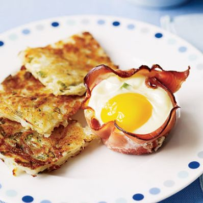 Breakfast Recipes - Ham and Egg Breakfast Cups
