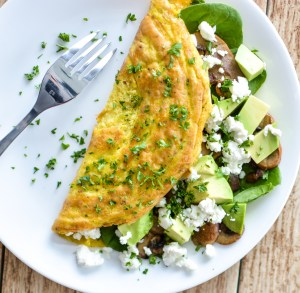 mushroom omelet - 20 Cheap Dinner Ideas for When You Are Skint on Money, Food, or Time- This Blended Home of Mine
