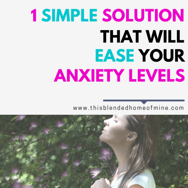 One Simple Solution That Will Ease Your Anxiety Levels - This Blended Home of Mine - Self-Care, Self-Love, Love Yourself Challenge, Anxiety