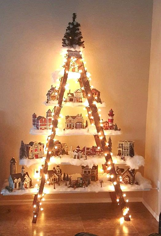Christmas Ladder - Creative Christmas Trees - This Blended Home of Mine