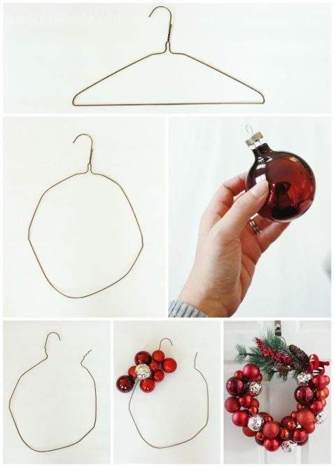 Christmas Decorations - Cheap Christmas Decorations - Christmas Bauble Wreath