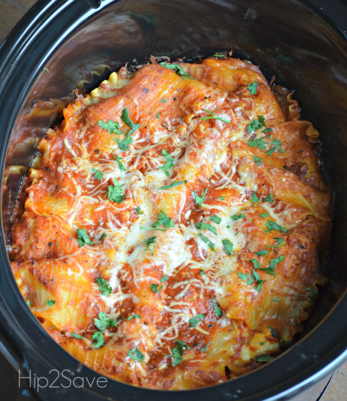 Easy Slow Cooker Recipes - Vegetarian Lasagna