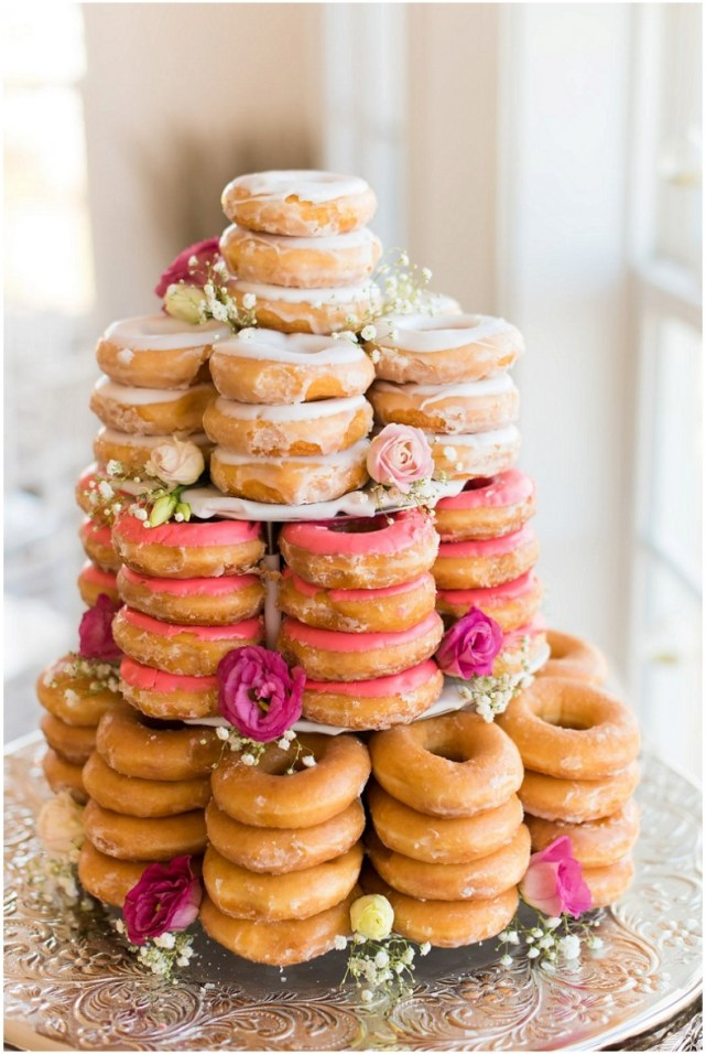 Wedding on a Budget - Donut Cake